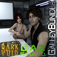 Dark Void Galley And Poses For G3 Bundle Daz Studio