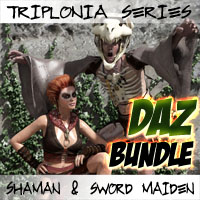 Triplonia Shaman And Swordmaiden Bundle For DS