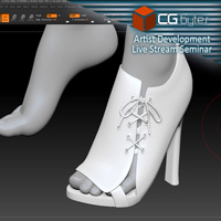 ArtDev Lace Up Panel High Heels For G3F