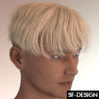 Shades Add On For Bowl Cut Hair For Genesis 3 Males