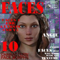 Faces 1 For Genesis, Victoria 5 And V5 Supermodel