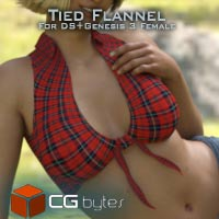 ArtDev Tied Flannel Top For G3F
