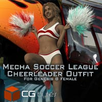 ArtDev Mecha Soccer League Cheerleader Outfit For G8F