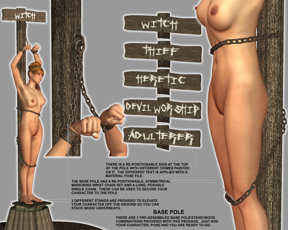 Nude Burned At The Stake Bondage | BDSM Fetish
