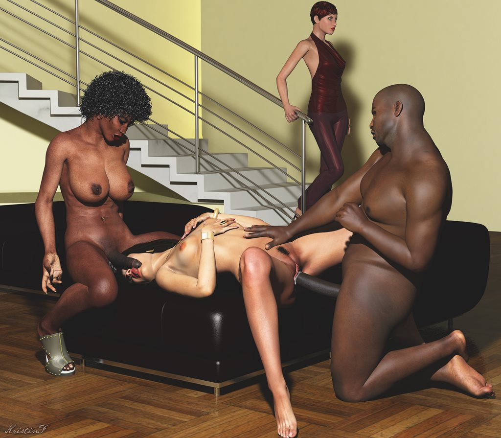Black ffm threesome sex