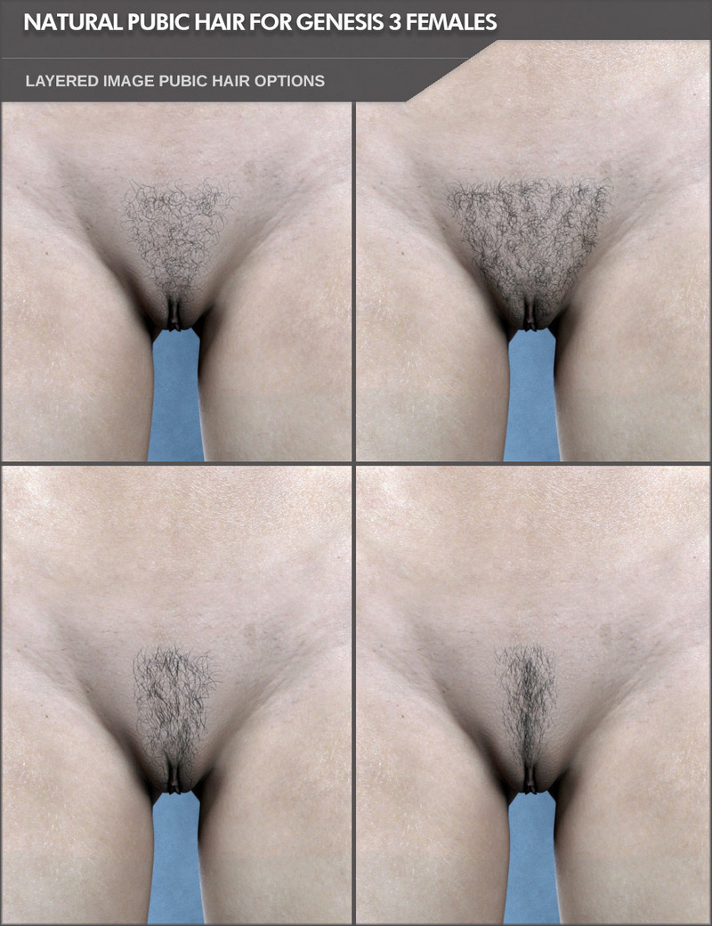 Natural Pubic Hair Options For Genesis 3 Females