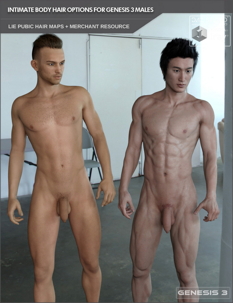 Pubic Hair Options For Genesis 3 Male Based Characters