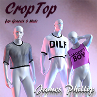 dForce CropTop For Genesis 8 Male