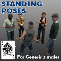 Standing Poses For Genesis 3 Males