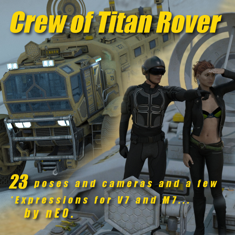 Crew Of: Sci-Fi Titan Rover For V7 And M7!