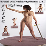 3dsk's Alice Fighting Female Nude Photo References III.