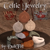 Wood And Stone Textures For Celtic Jewelry