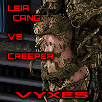 Leia Cang Vs Creeper Gallery Series