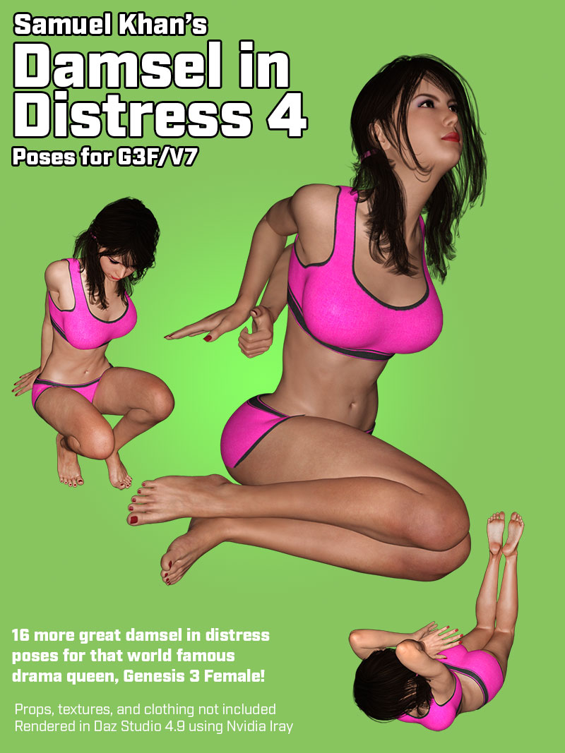 Damsel In Distress Poses For G3F/V7 Vol. 4