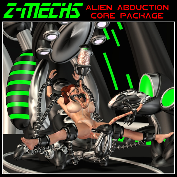 Ailen abduction with rubber bondage fetish