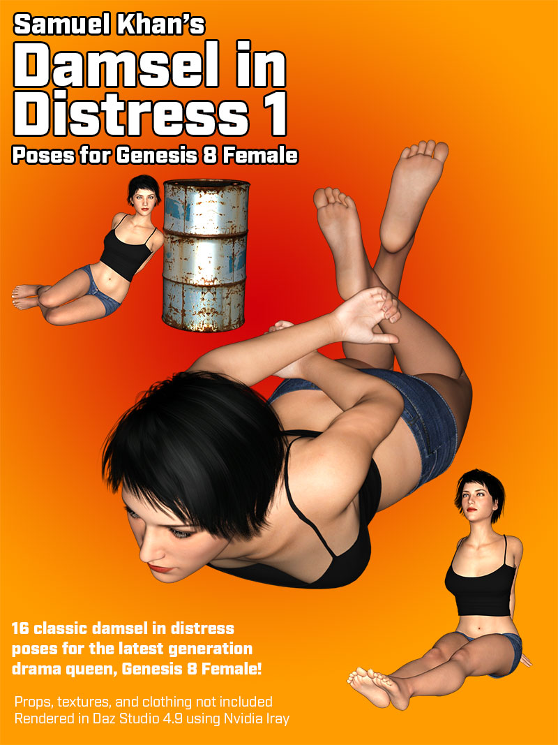 Damsel In Distress Poses For G8F 1