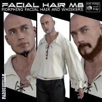 Facial Hair For Michael 8 And Genesis 8 Male
