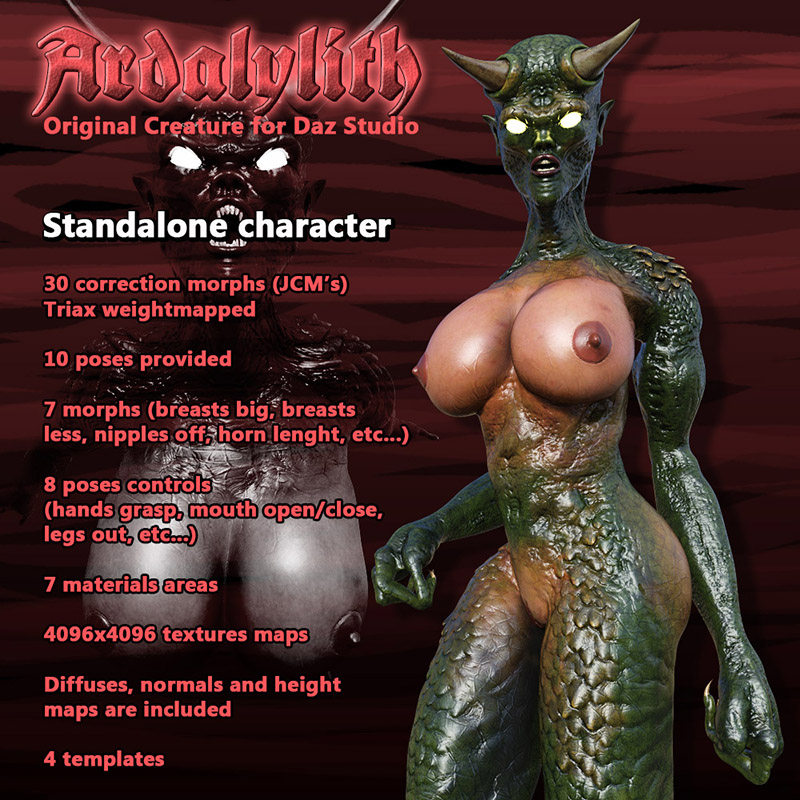 Ardalylith Standalone Character For Daz Studio
