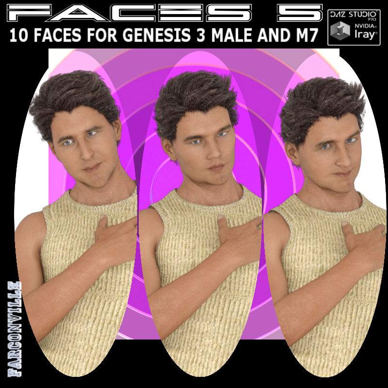 Faces 5 For Genesis 3 Male And Michael 7