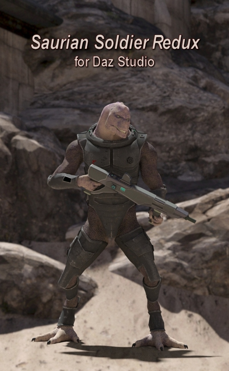 Saurian Soldier Redux For Daz Studio