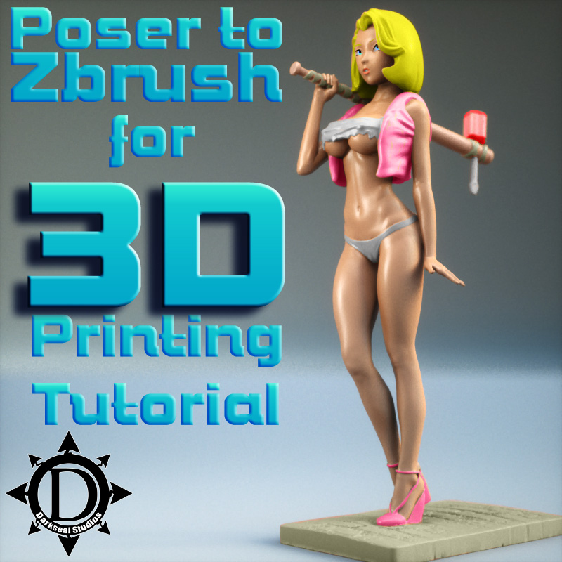 Poser To Zbrush For 3D Printing