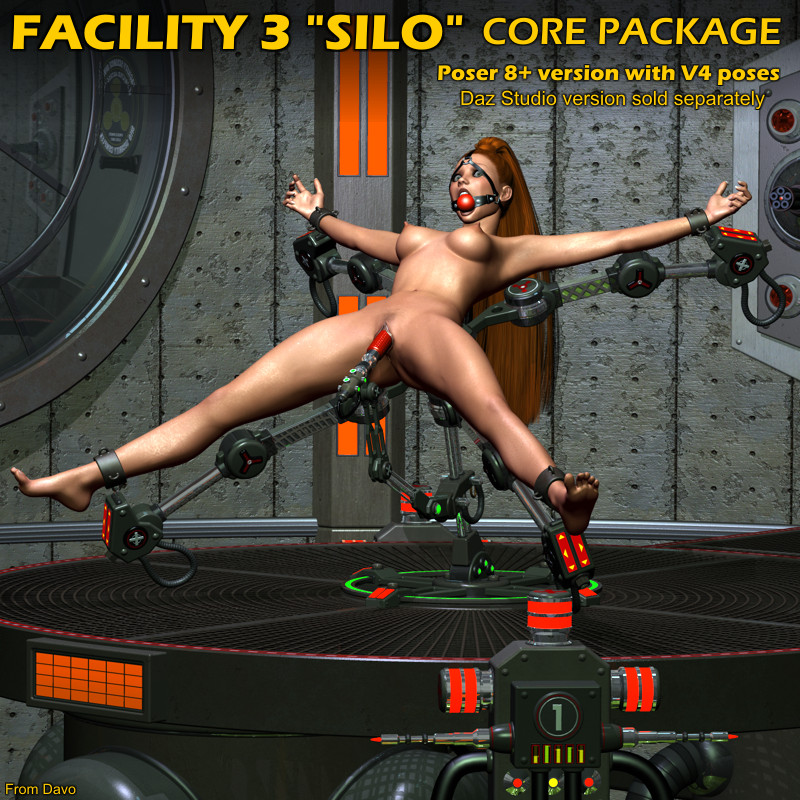 "Facility 3 ""Silo"" Core Package For Poser 8+"