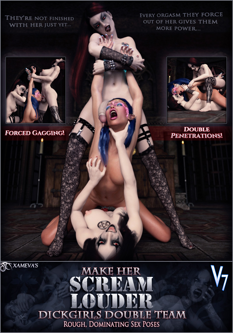 Scream Louder Dickgirl - Double Penetration Poses V7