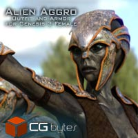 ArtDev Alien Aggro Armour And Outfit For Alien Allure G3F