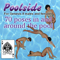 Poolside Poses For Genesis 8 Male And Female