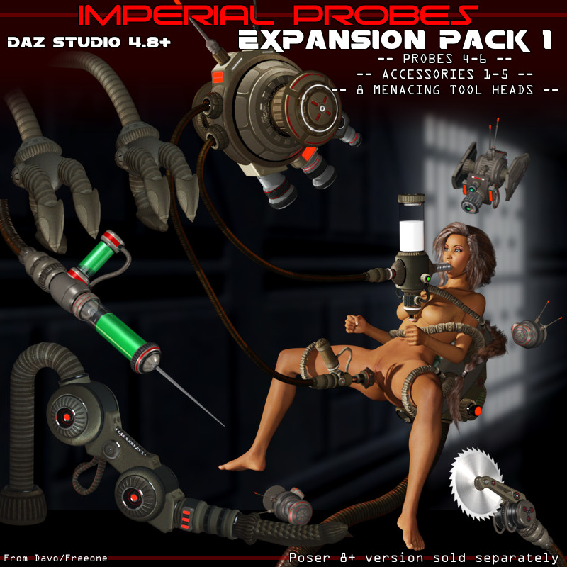 "Imperial Probes ""Expansion Pack 1"" For DazStudio 4.8+"