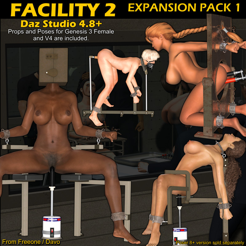 """Facility 2"" Expansion Pack 1 For DazStudio 4.8+"