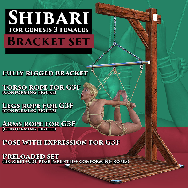 Shibari For G3F - Bracket Set