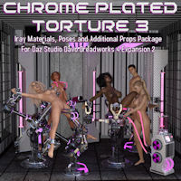 Chrome Plated Torture 3 For Daz Studio Davo Dreadworks 4 Expansion Pack 2